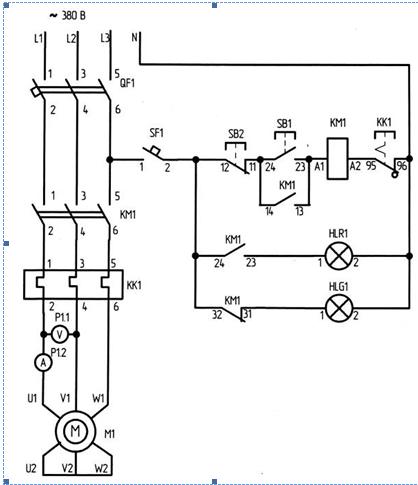 1 – Электрическая схема